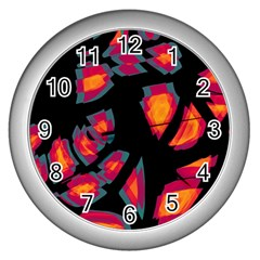 Hot, Hot, Hot Wall Clocks (silver)