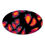 Hot, hot, hot Oval Magnet Front