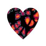 Hot, hot, hot Heart Magnet Front