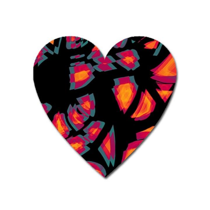 Hot, hot, hot Heart Magnet