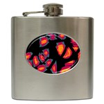 Hot, hot, hot Hip Flask (6 oz) Front