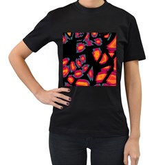 Hot, hot, hot Women s T-Shirt (Black) (Two Sided)