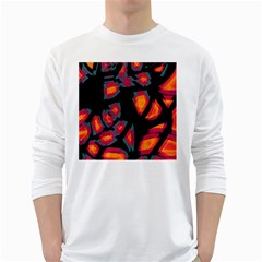 Hot, hot, hot White Long Sleeve T-Shirts