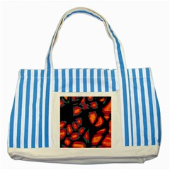 Hot, hot, hot Striped Blue Tote Bag