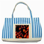 Hot, hot, hot Striped Blue Tote Bag Front