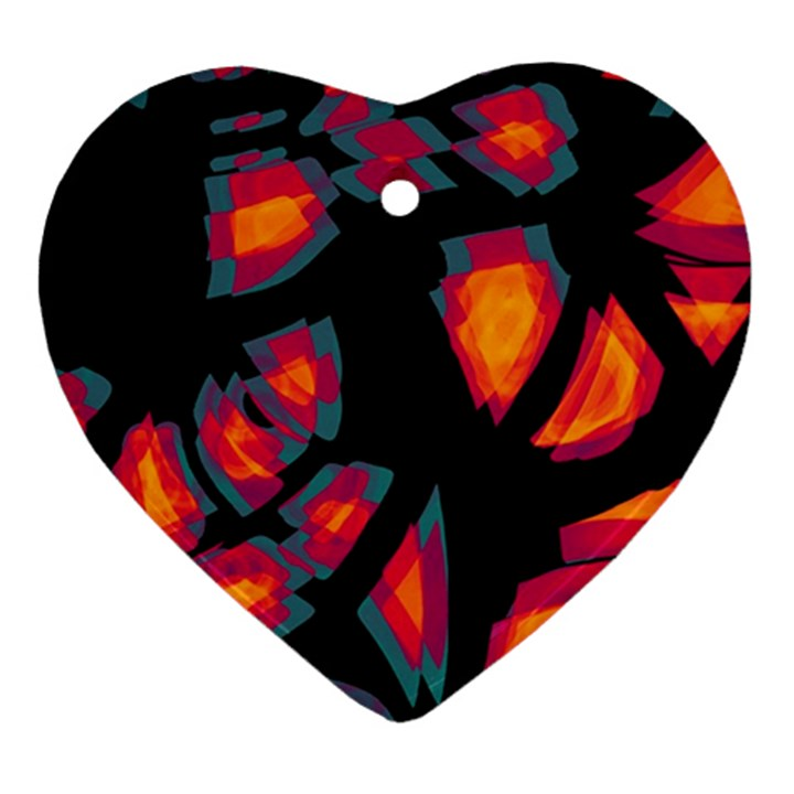 Hot, hot, hot Heart Ornament (2 Sides)