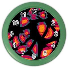 Hot, Hot, Hot Color Wall Clocks