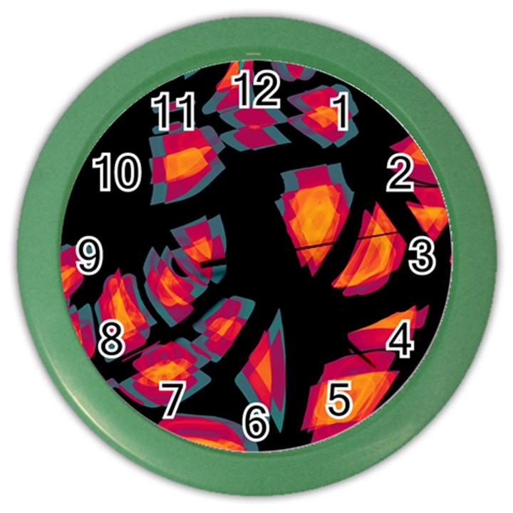 Hot, hot, hot Color Wall Clocks