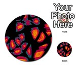 Hot, hot, hot Multi-purpose Cards (Round)  Back 39