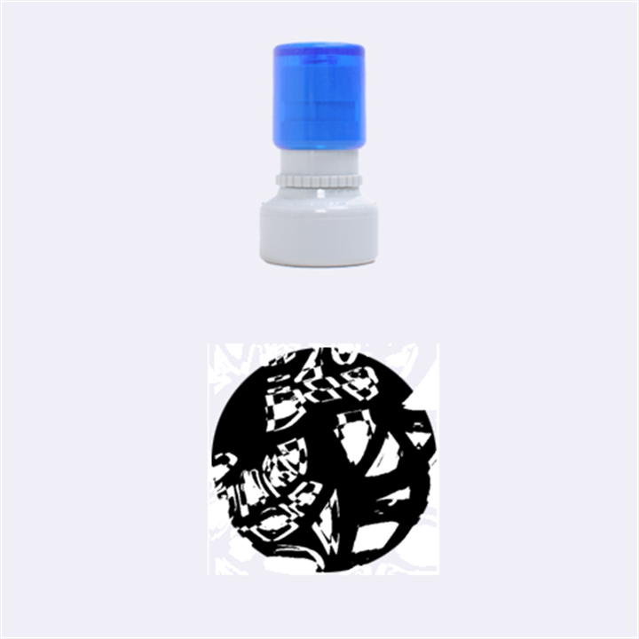 Hot, hot, hot Rubber Round Stamps (Small)