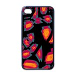 Hot, hot, hot Apple iPhone 4 Case (Black) Front