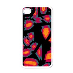 Hot, Hot, Hot Apple Iphone 4 Case (white)