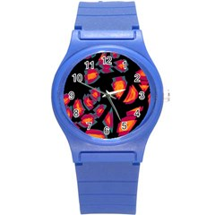 Hot, hot, hot Round Plastic Sport Watch (S)