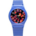 Hot, hot, hot Round Plastic Sport Watch (S) Front