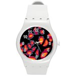 Hot, hot, hot Round Plastic Sport Watch (M) Front