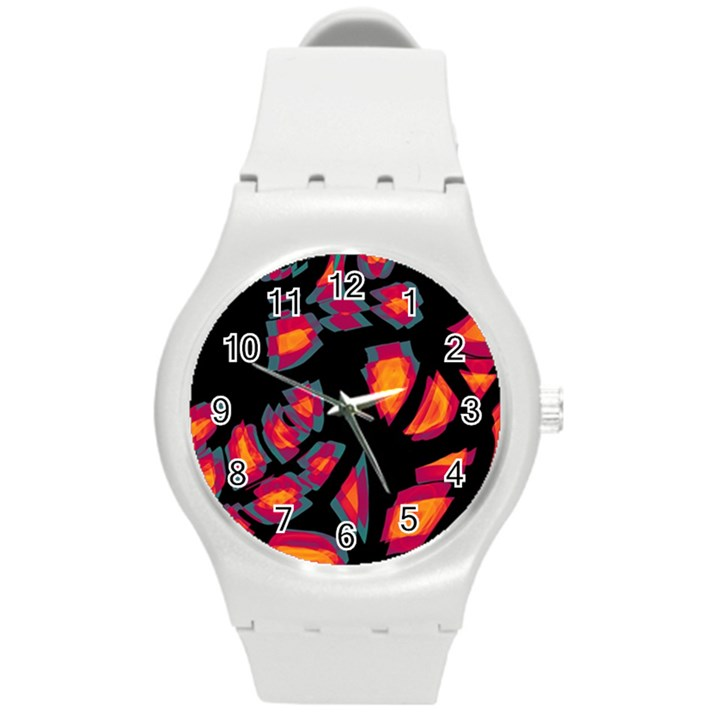 Hot, hot, hot Round Plastic Sport Watch (M)