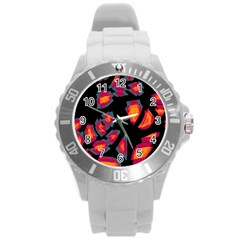 Hot, hot, hot Round Plastic Sport Watch (L)
