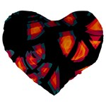 Hot, hot, hot Large 19  Premium Heart Shape Cushions Front
