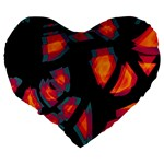 Hot, hot, hot Large 19  Premium Heart Shape Cushions Back