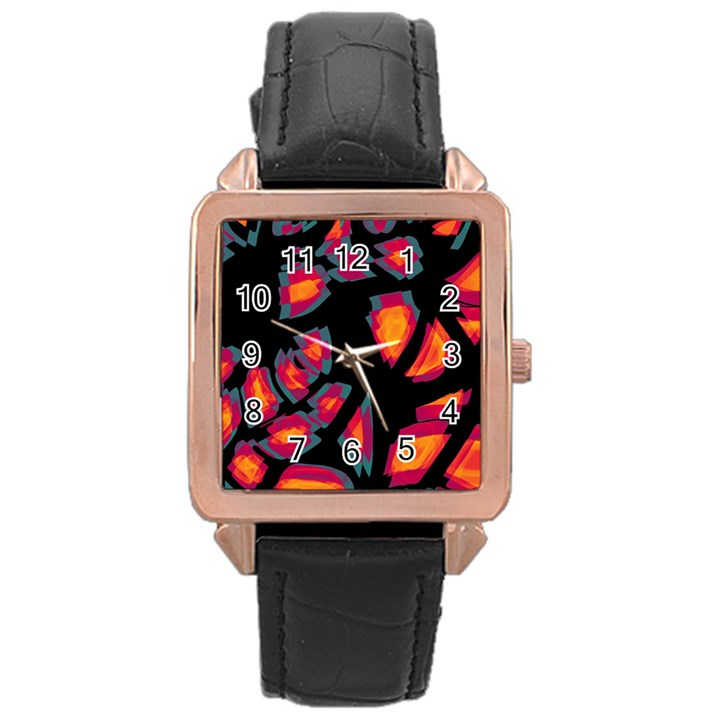 Hot, hot, hot Rose Gold Leather Watch