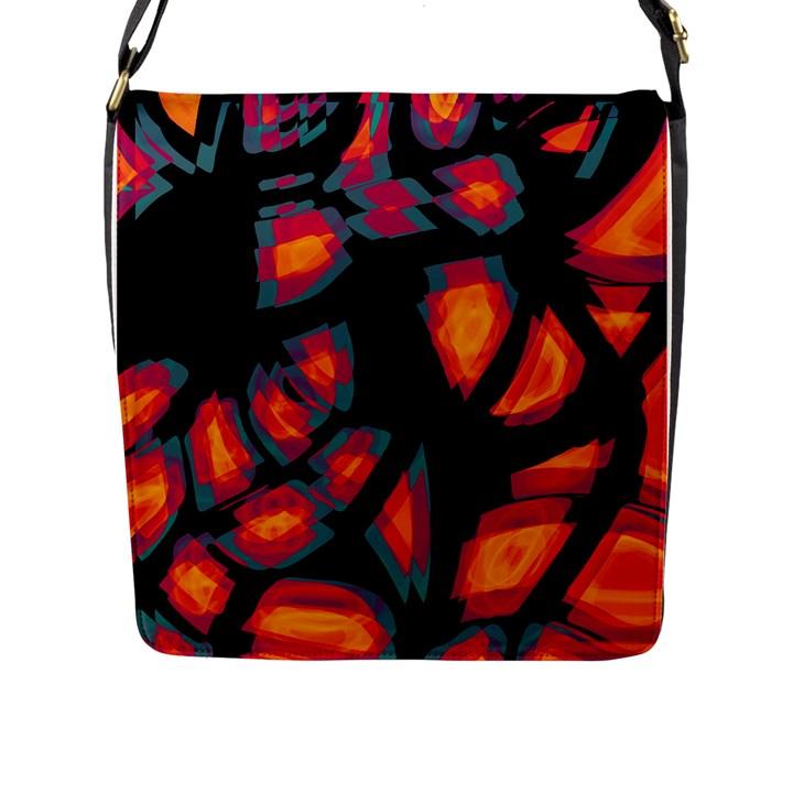 Hot, hot, hot Flap Messenger Bag (L)