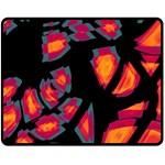 Hot, hot, hot Double Sided Fleece Blanket (Medium)  58.8 x47.4 Blanket Back