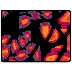 Hot, hot, hot Double Sided Fleece Blanket (Large)