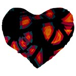 Hot, hot, hot Large 19  Premium Flano Heart Shape Cushions Back