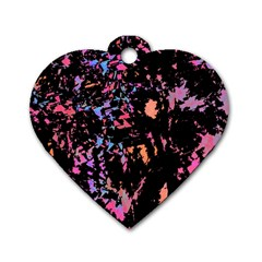 Put some colors... Dog Tag Heart (One Side)