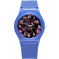 Put some colors... Round Plastic Sport Watch (S)