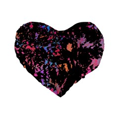Put some colors... Standard 16  Premium Flano Heart Shape Cushions