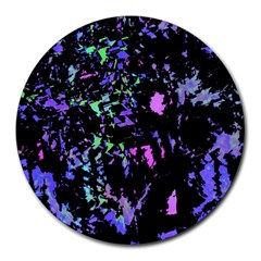 Think blue Round Mousepads