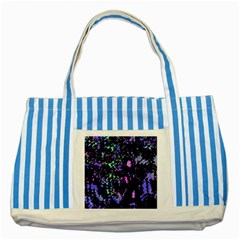 Think blue Striped Blue Tote Bag