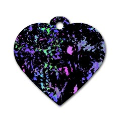 Think blue Dog Tag Heart (Two Sides)