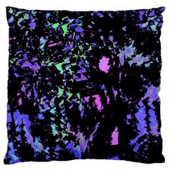 Think blue Large Cushion Case (One Side)