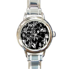 Black and white miracle Round Italian Charm Watch