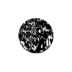 Black and white miracle Golf Ball Marker