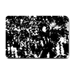 Black and white miracle Small Doormat