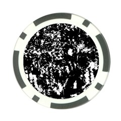 Black and white miracle Poker Chip Card Guards