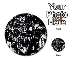 Black and white miracle Multi-purpose Cards (Round)
