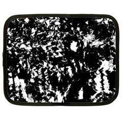 Black and white miracle Netbook Case (Large)