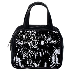 Black and white miracle Classic Handbags (One Side)