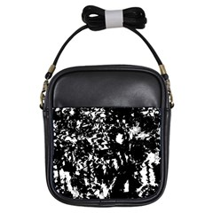 Black and white miracle Girls Sling Bags