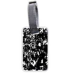 Black and white miracle Luggage Tags (One Side)
