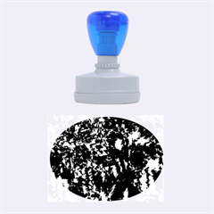 Black and white miracle Rubber Oval Stamps