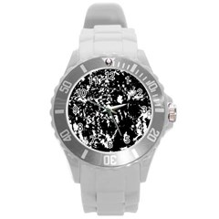 Black and white miracle Round Plastic Sport Watch (L)