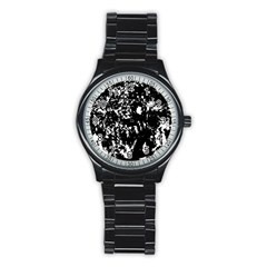 Black and white miracle Stainless Steel Round Watch