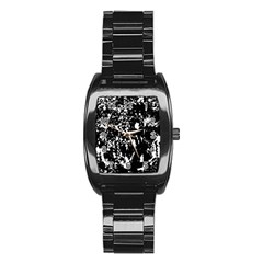 Black and white miracle Stainless Steel Barrel Watch