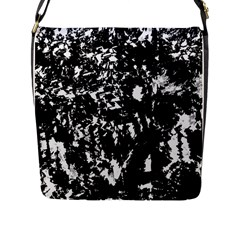 Black and white miracle Flap Messenger Bag (L)