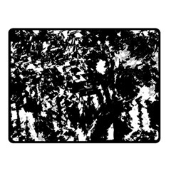 Black and white miracle Double Sided Fleece Blanket (Small)